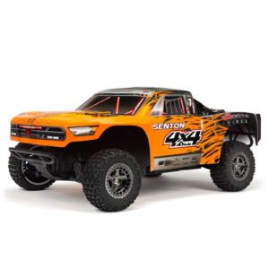 מכונית על שלט – 1/10 SENTON 3S BLX 4WD Brushless Short Course Truck with Spektrum RTR, Orange/Black